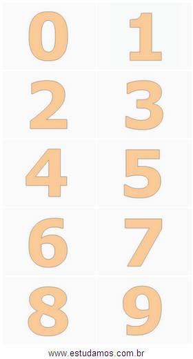Numeros Coloridos Do 0 Ao 9 Imprima As Imagens E Forme Um Cartaz
